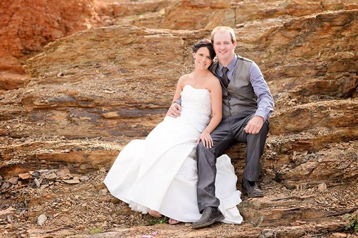 Country wedding at The Blue Hole