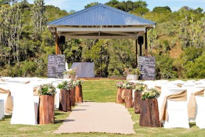 Outdoor wedding on banks of The Blue Hole